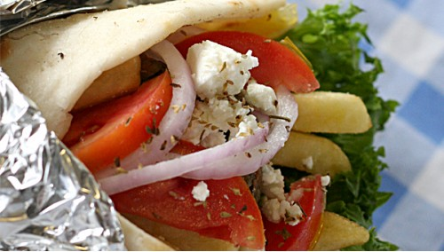 372. Greek Salad Wrap