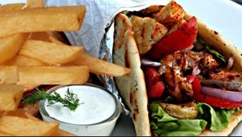 071. Pita Wrap with Fries