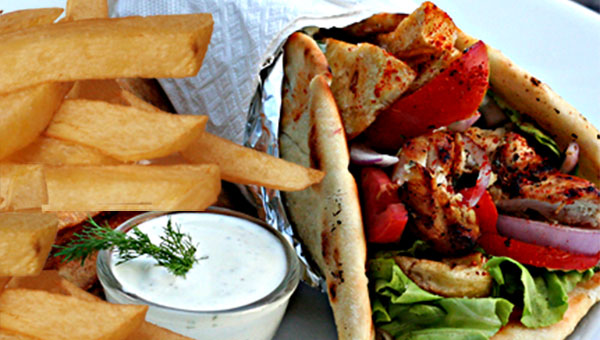 071. Pita Wrap with Fries