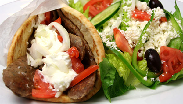 072.Pita Wrap with Greek Salad