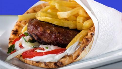 300. Pita  Wrap with Burger
