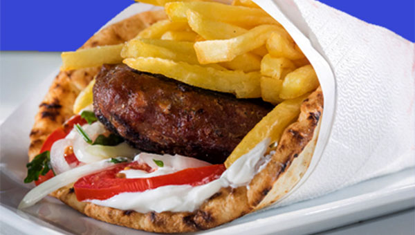 300. Pita  Wrap with Burger