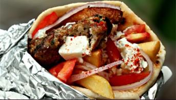 301. Pita Wrap Burger & Feta