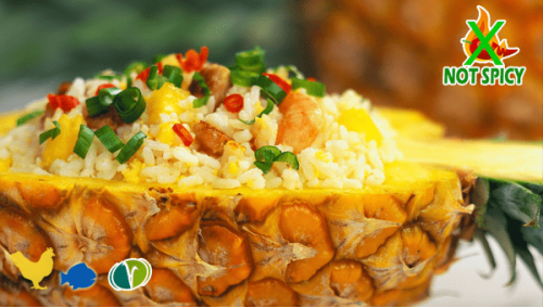 THAI 05.  Fried Rice on a Pineapple Shell