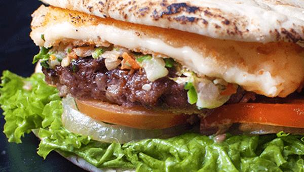206. Pita  Burger Feta Saganaki