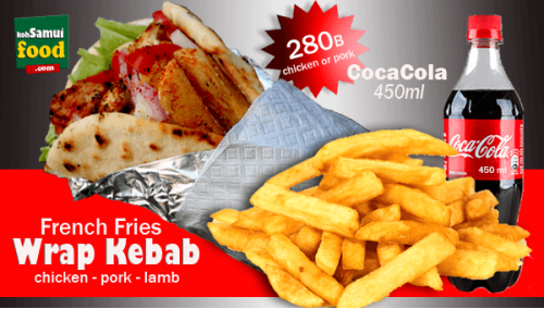 600. Wrap Kebab Fries Cola