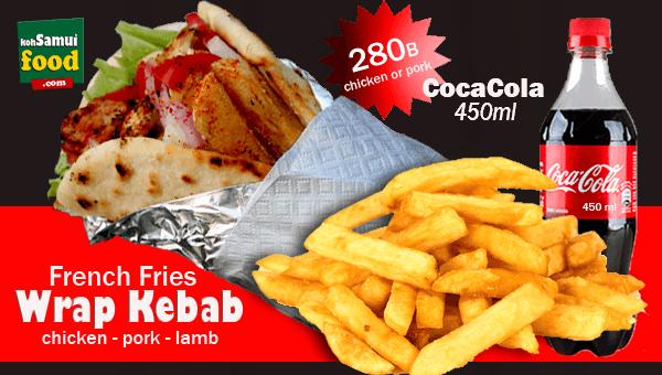 600. Wrap Kebab Fries Cola