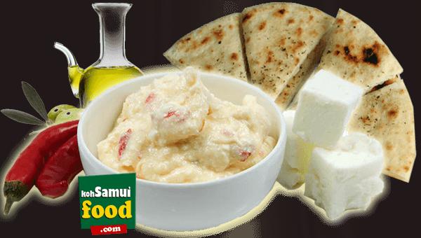 003. Creamy Spicy Cheese Pita Bread