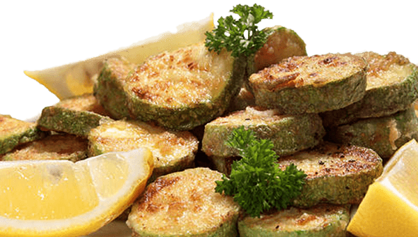 019. Fried Courgettes