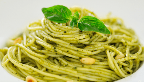 044. Spaghetti Al Pesto