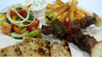 064. Beef Kebab [Plate]