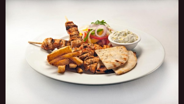062. Souvlaki Chicken [Plate]