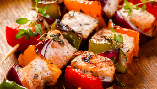 081. Salmon Kebab